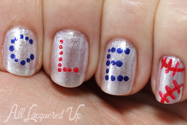 OPI Girls Love Diamonds Nail Art from the MLB Collection