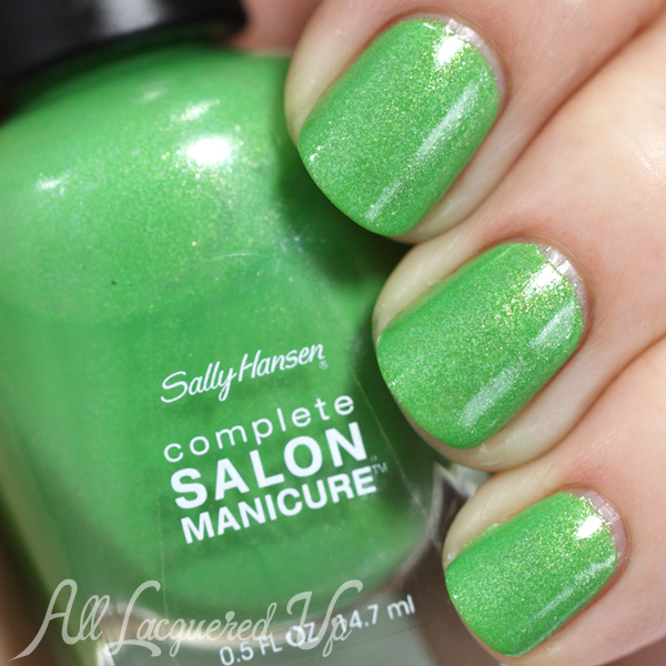 Sally Hansen Summerlime swatch - Summer 2014 via @alllacqueredup
