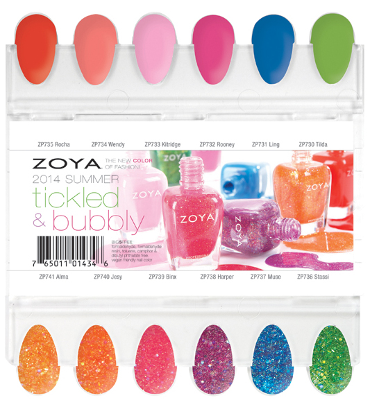 Zoya Bubbly and Tickled Summer 2014 swatches