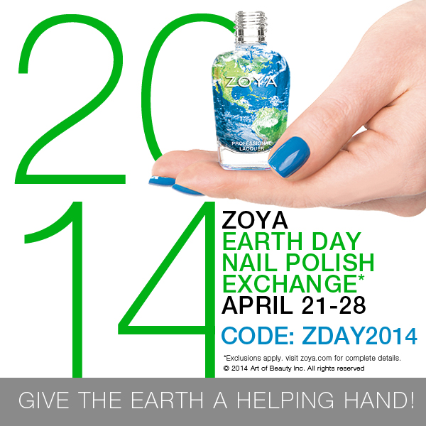 Zoya Earth Day 2014 Nail Polish Exchange