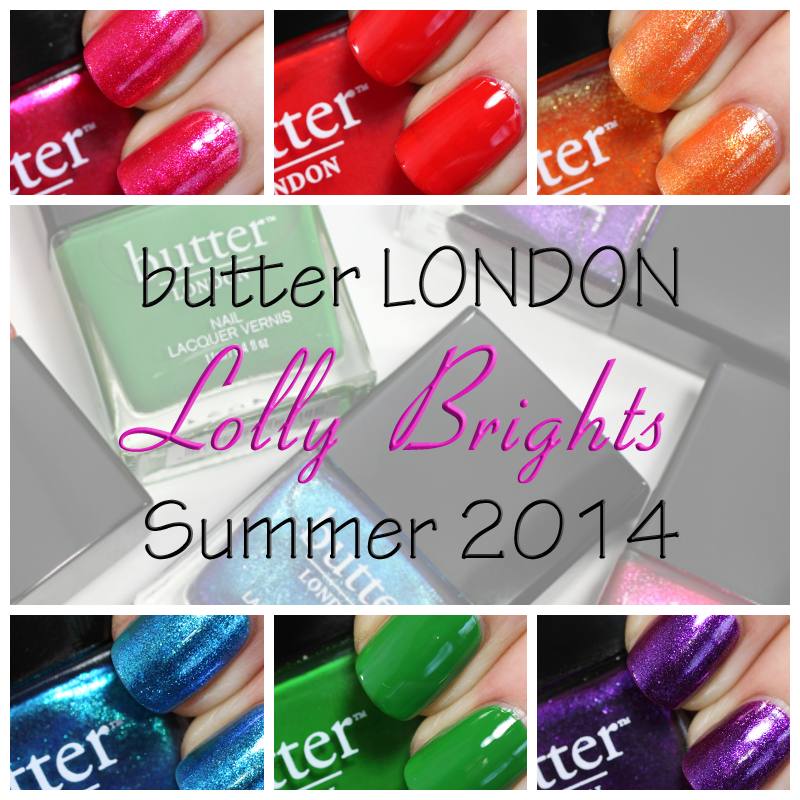 Butter London Lolly Brights For Summer 2014 Swatches Review