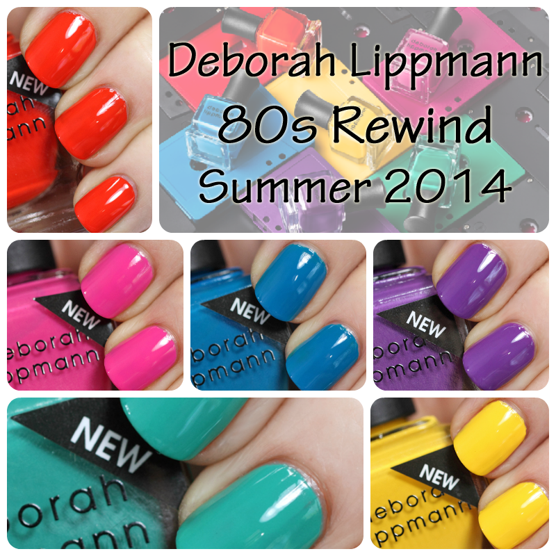 Deborah Lippmann Summer 2014 80s Rewind swatches