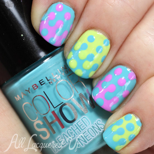 Maybelline Bleached Neons Dotticure Nail Art