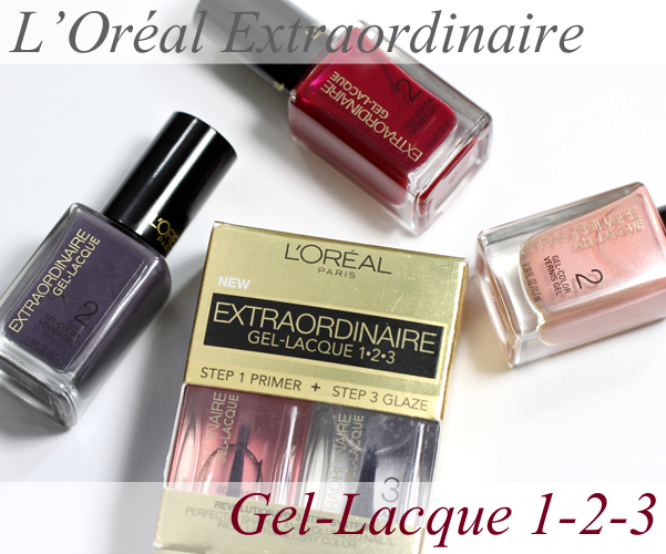 L'Oréal Extraordinaire Gel-Lacque 1-2-3 swatches and review