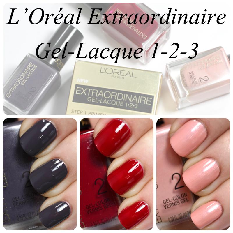 L\'Oréal Extraordinaire Gel-Lacque 1-2-3 Swatches & Review | All ...