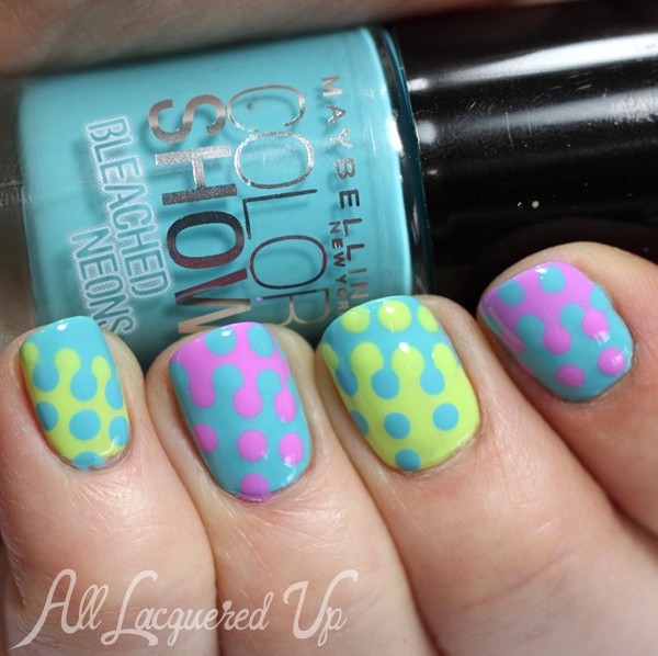 Maybelline Bleached Neons Nail Art