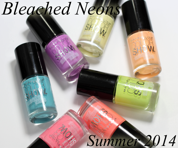 Maybelline Bleached Neons Summer 2014