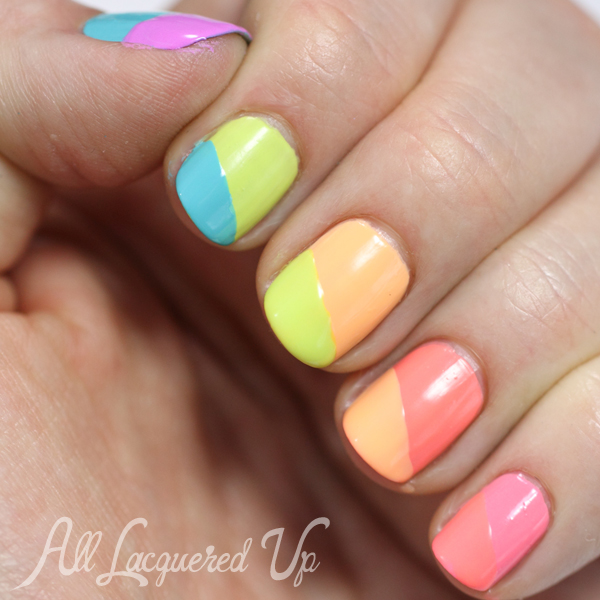 Maybelline Bleached Neons swatch