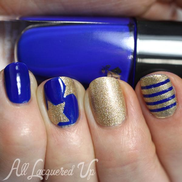 Nautical Stars & Stripes Nail Art