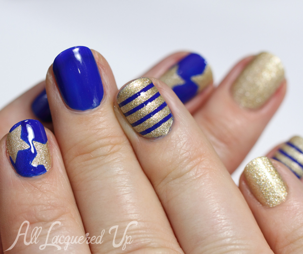 Patriotic Nail Art - Stars & Stripes