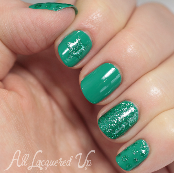 Sally Hansen Archipela-Glow swatch and nail art