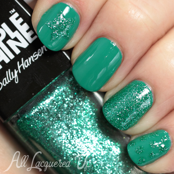 Teal Nail Art with Sally Hansen Seasational