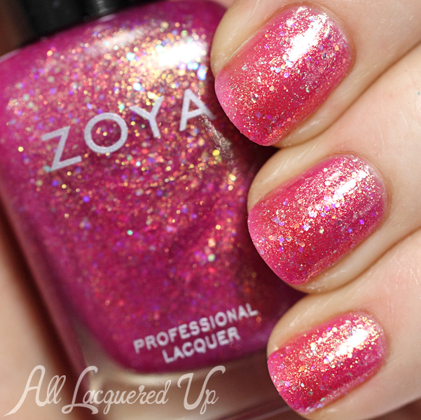 Zoya Binx swatch - Bubbly Summer 2014