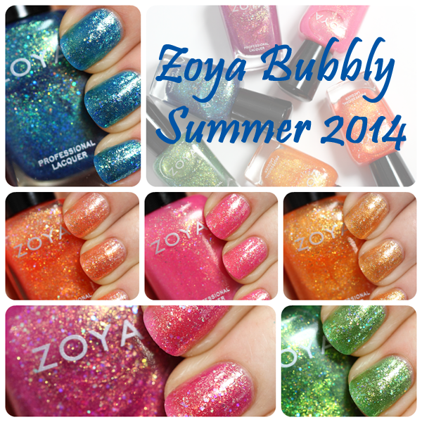 Zoya Summer 2014 - Bubbly swatches