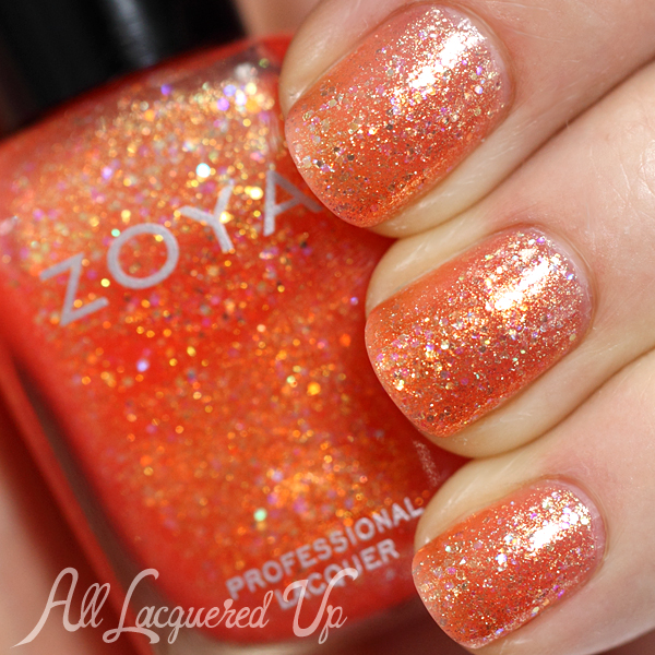 Zoya Jesy swatch - Bubbly Summer 2014