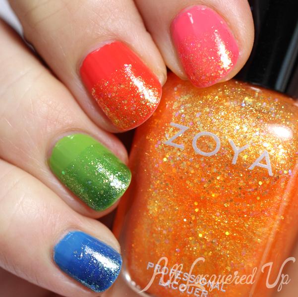 Zoya Rainbow Glitter Gradient