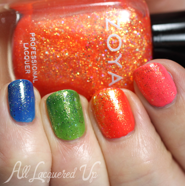 Zoya Rainbow Nails with Tickled & Bubbly