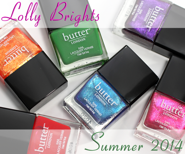 butter LONDON Lolly Brights Summer 2014
