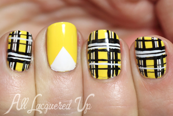 Clueless' Cher Horowitz-Inspired Plaid Nail Art
