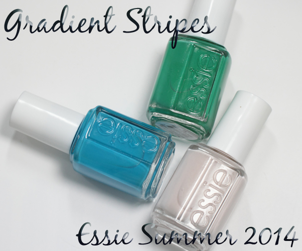 Essie Summer 2014 - Gradient Stripes for #ManiMonday