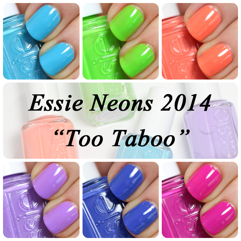 Essie Neons 2014 Too Taboo Collection Swatches & Review : All ...