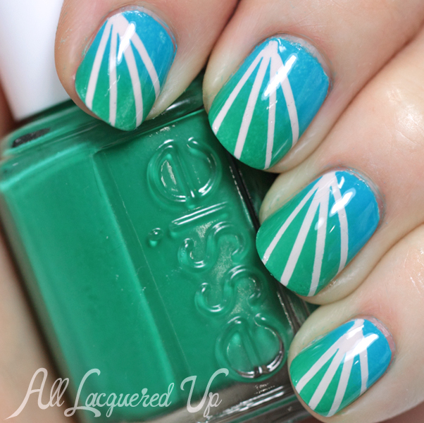 Essie Ruffles & Feathers and Strut Your Stuff Nail Art