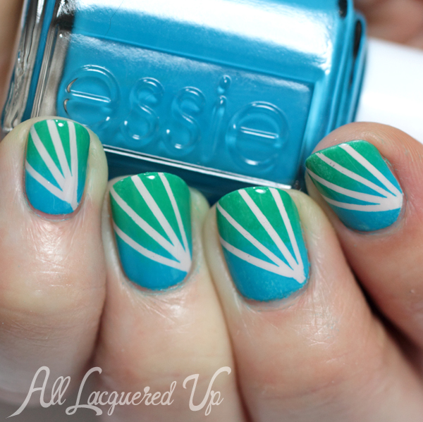 Essie Summer 2014 Gradient Nail Art