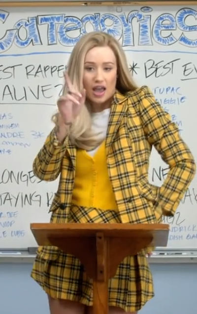 Iggy Azalea Fancy in Cher Horowitz from Clueless Plaid Outfit