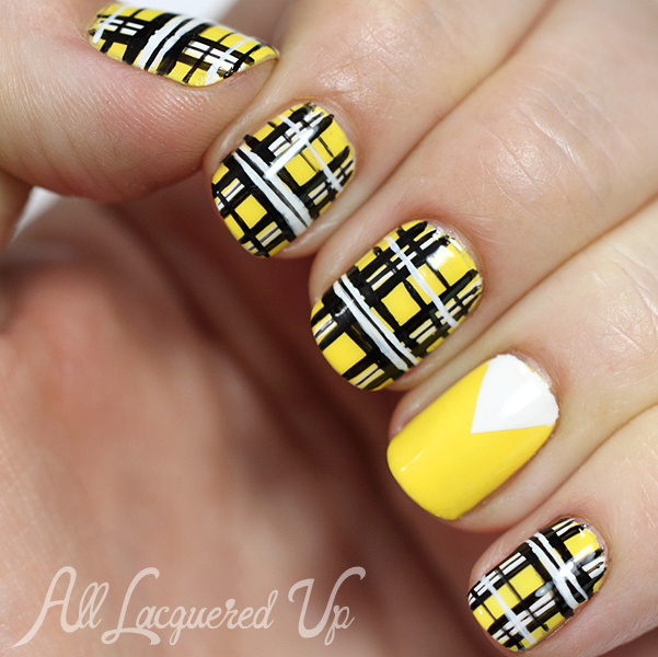 Iggy Azalea Fancy Plaid Nail Art