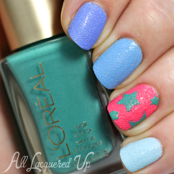 L'Oreal Miss Denim Summer 2014 Textured Nail Art