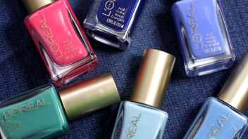 #ManiMonday – L'Oreal Miss Denim Collection Textured Nail Art