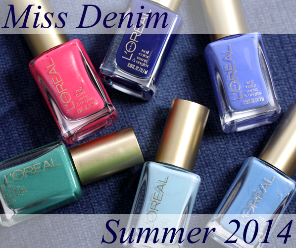 L'Oreal Paris Summer 2014 Nail Polish - Miss Denim