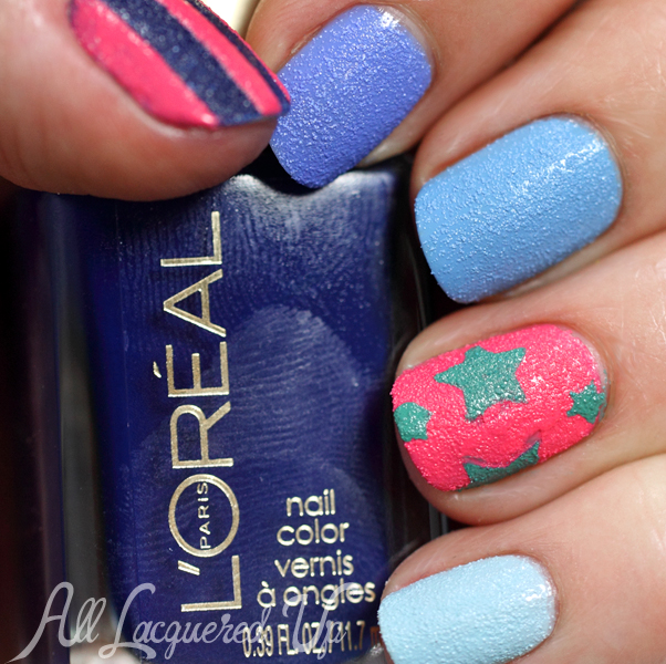 L\'Oreal Miss Denim Collection Textured Nail Art for #ManiMonday ...