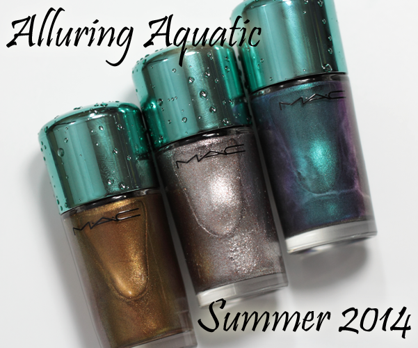 MAC Alluring Aquatic Nail Color - Neptune, Shimmerfish, Submerged ...