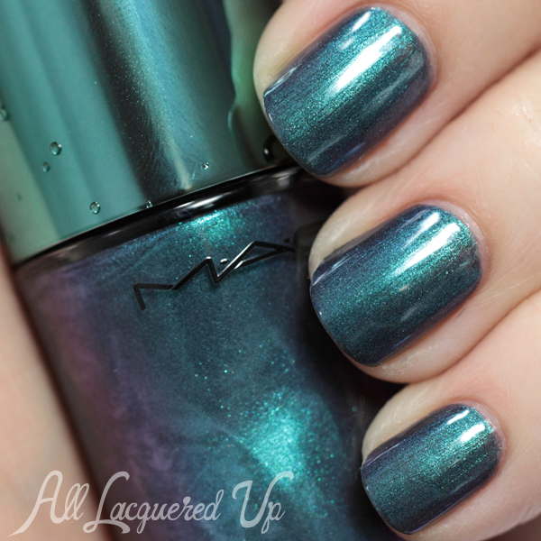 Mac Submerged Nail Swatch Alluring Aquatic