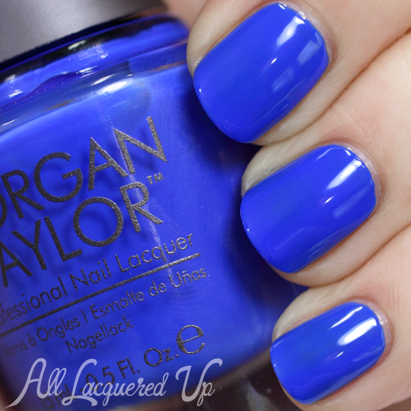 Morgan Taylor Making Waves swatch via @alllacqueredup