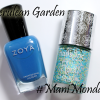 #ManiMonday – Cerulean Garden with Nails Inc Floral Glitter