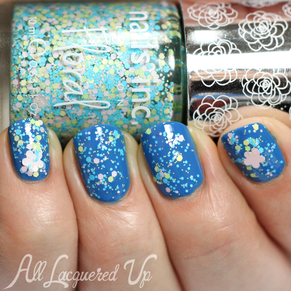 Zoya Ling with Nails Inc Richmond Gardens Floral glitter