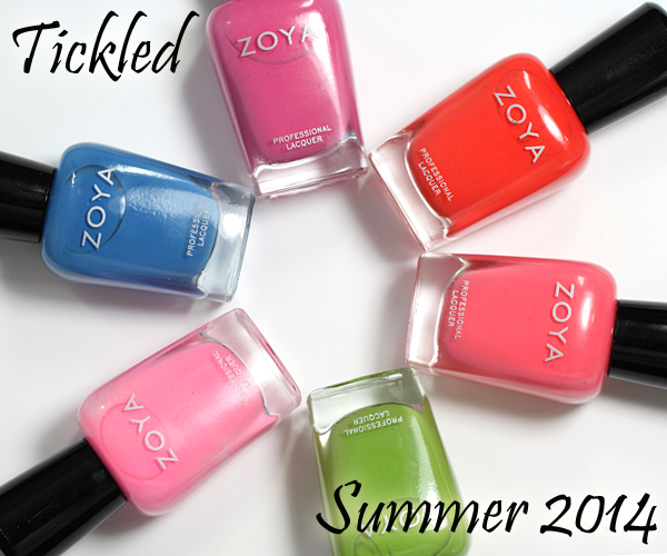 Zoya Summer 2014 Tickled Nail Polish Collection