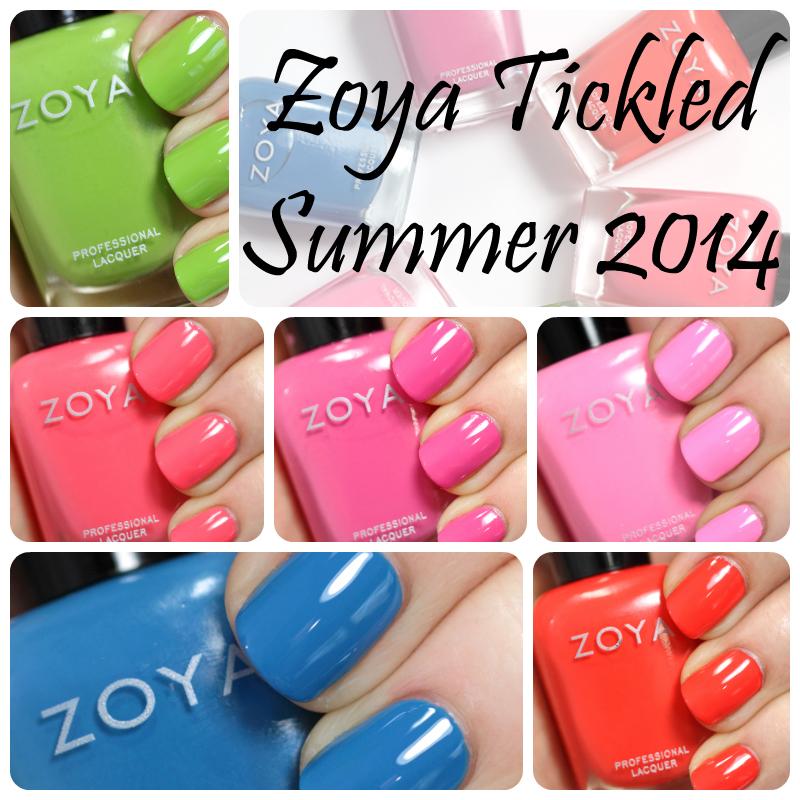 Zoya Tickled Summer 2014 swatches