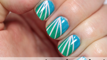 Essie Summer 2014 – Striped Gradient Nail Art Tutorial