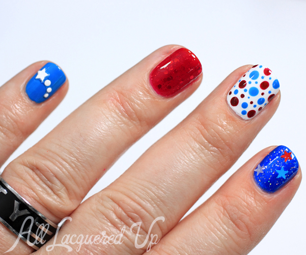 4th of July manicure and nail art