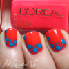 NOTD – L'Oreal Neons Punchy Lychee Dotticure