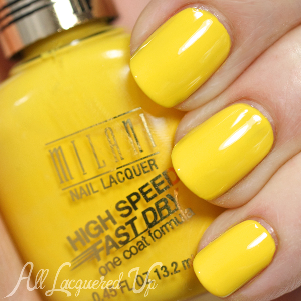 Milani Yellow Whiz swatch