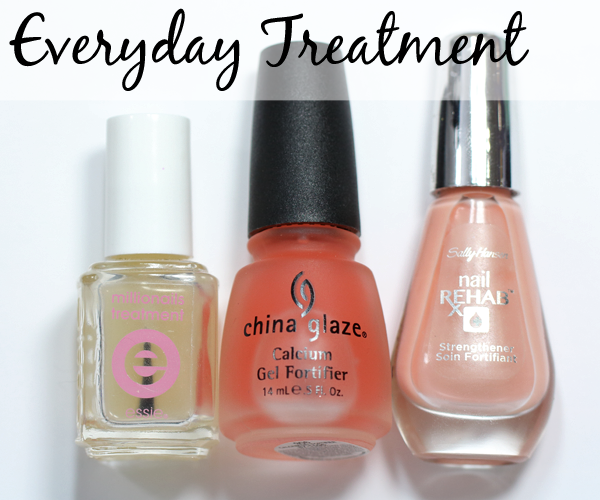 Nail Treatment Base Coat - Essie Millionails, China Glaze Calcium Gel Fortifier, Sally Hansen Nail Rehab