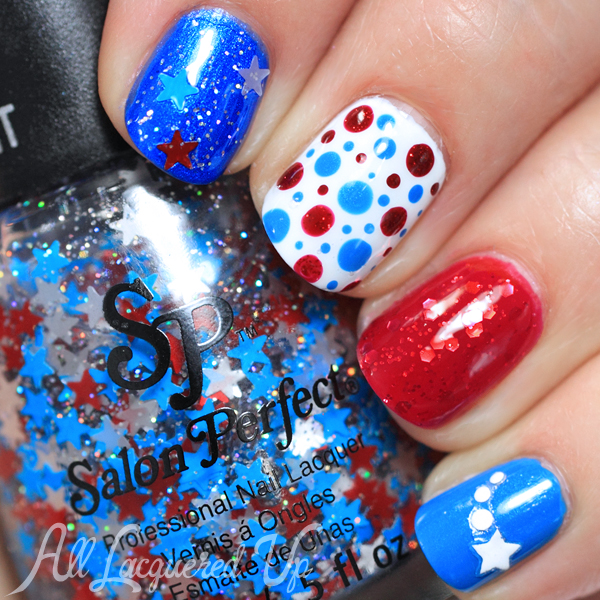 Patriotic Manicure using Salon Perfect Star Spangled