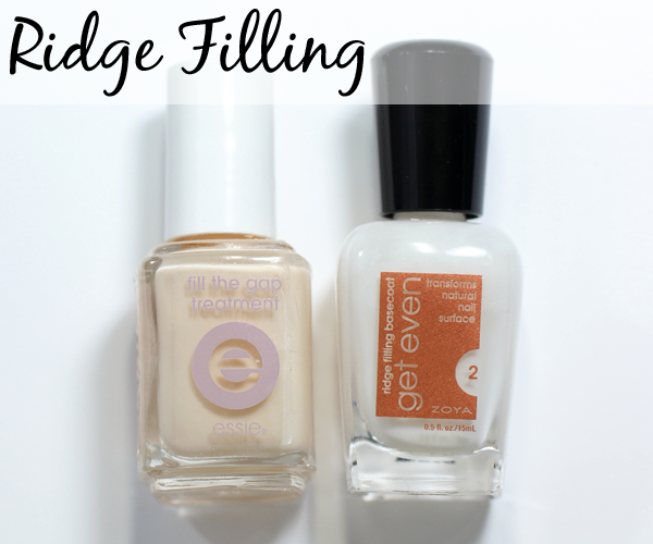 Ridge Filling Base Coat - Essie Fill The Gap and Zoya Get Even
