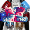 Red, White & Blue 4th of July Nails with Salon Perfect