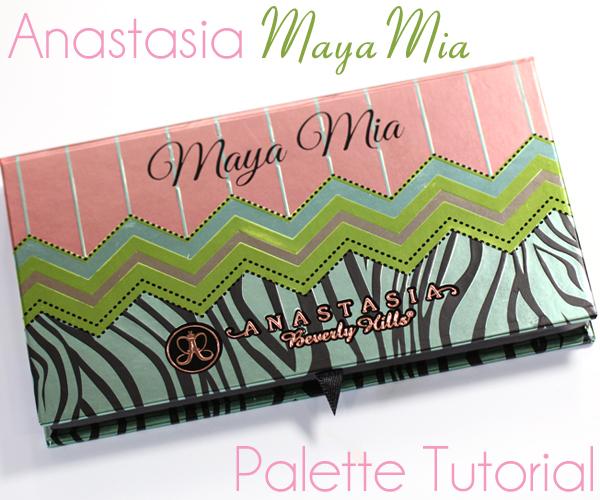 Anastasia Maya Mia Palette Tutorial & Review via @AllLacqueredUp