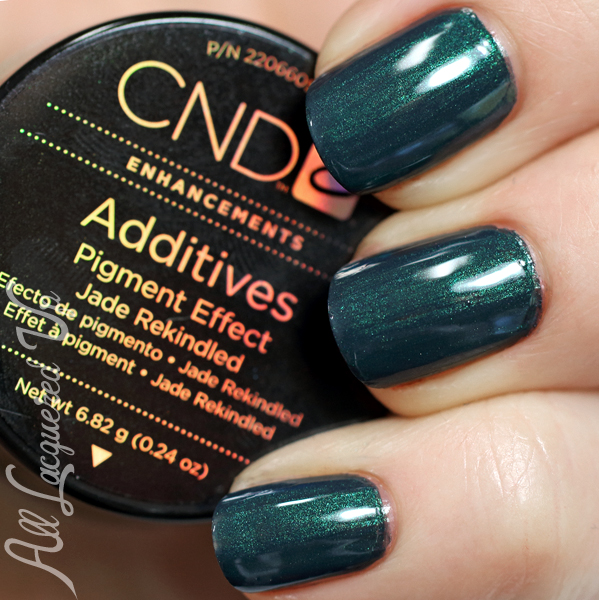 CND Jade Rekindled Additive in Indigo Frock via @AllLacqueredUp